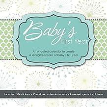 Baby's First Year Undated Keepsake Calendar with Milestone Stickers