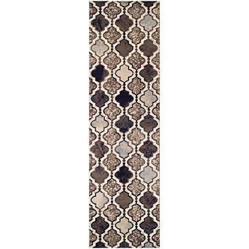(Superior Elegant Viking Area Rug, Bold Trellis Vintage Pattern, 2'7