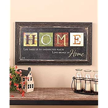 adeco decorative wood wall hanging sign plaque home sweet home brown gold home. Black Bedroom Furniture Sets. Home Design Ideas