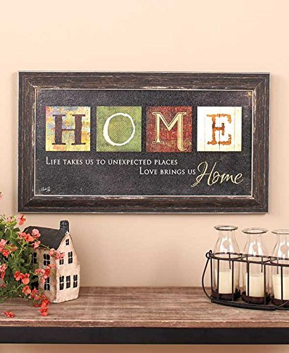 Top 5 best home decor living room wall art rustic seller for Home decorations amazon