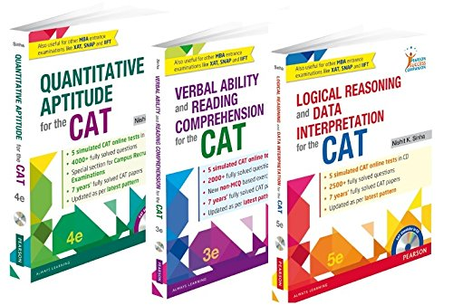 Nishit Sinha's Complete CAT Series Combo of Quantitative Aptitude, Verbal Ability and Reading Comprehension, Logical Reasoning & Data Interpretation