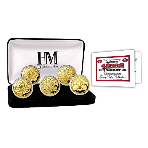 (San Francisco 49ers 5-time Super Bowl Champions Gold Game Coin Set)