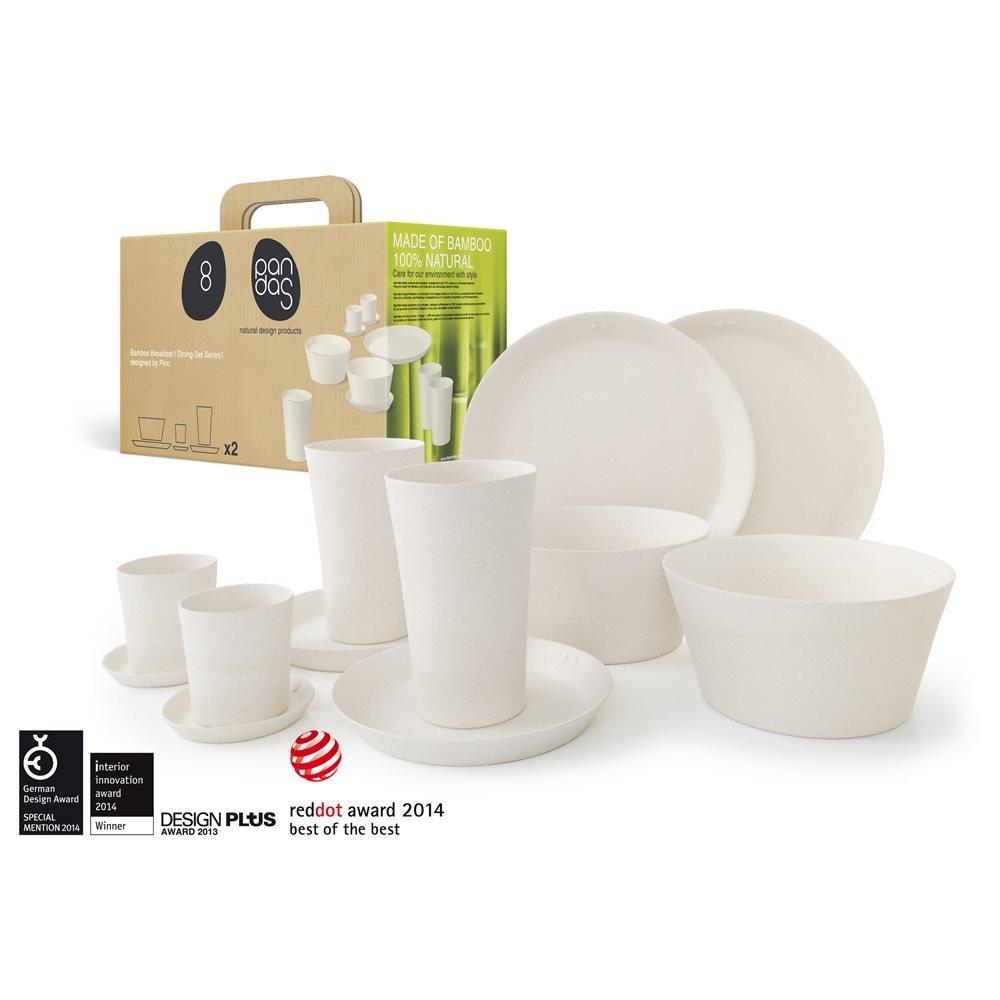 Bambus Frühstück-Set 12-teilig, Farbe:weiß: Amazon.de: Küche & Haushalt