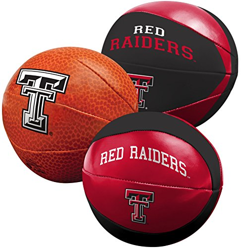 NCAA Texas Tech Red Raiders Three Ball Softee Basketball Set, (Raiders Ncaa Basketball)