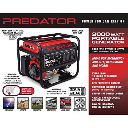 Amazon com : Predator generators 63968 9000 Max Starting