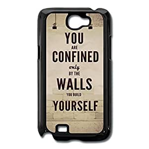 Galaxy Note 2 Cases Sayings Design Hard Back Cover Shell Desgined By RRG2G by runtopwell