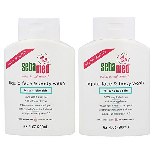 Wash Mild Face - Sebamed Liquid Face and Body Wash pH 5.5 Mild Dermatologist Recommended Hydrating Cleanser for Sensitive Skin 6.8 Fluid Ounces (200 Milliliters) Pack of 2