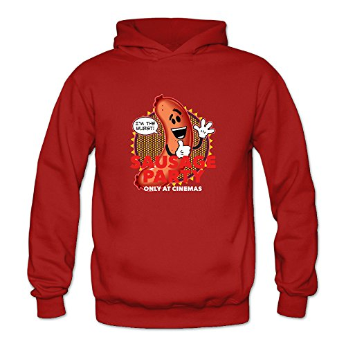 Sausage Party Women's Long Sleeve Hoodied Red US Size L -