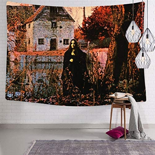 285 Black Sab-Bath Tapestry Wall Hanging Soft Tapestries Funny Wall Home Art Decoration for Bedroom Living Room College Dorm Decor 70.9 x 92.5 Inch