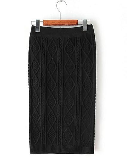 Lisastor Womens Winter Warm Argyle Pattern Pencial Sweater Skirts