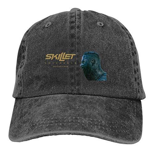 LeafLover Skillet Band Unisex Cotton Denim Cap Hat Breathable Casual Skull - Hat Skillet Band