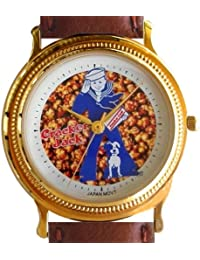 "Rare Vintage ""Cracker Jack"" Classic Small Size Collectible Watch Has Coin Edge Gold Tone Case"