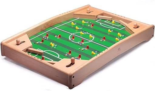 Futbolines Juego De Fútbol Mesa Pequeña Máquina De Fútbol Mesa De Juego De Mesa De Fútbol De Seis Plazas para El Hogar Juguetes para Niños Juguetes y Juegos (Color : Wood, Size :