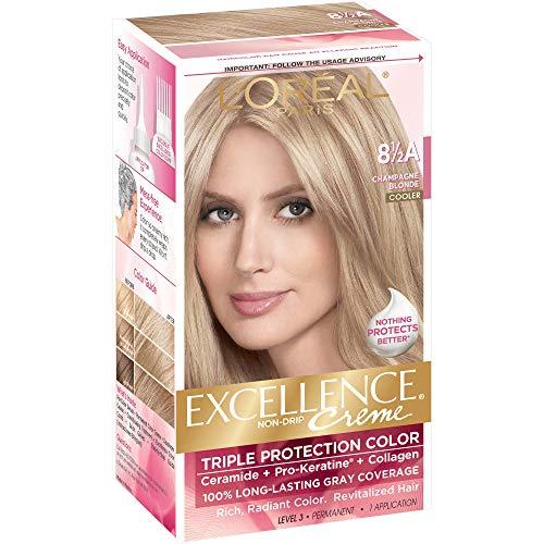 L'Oreal Paris Excellence Créme Permanent Hair Color, Champagne Blonde [8.5A] 1 ea ( Packs of 4)