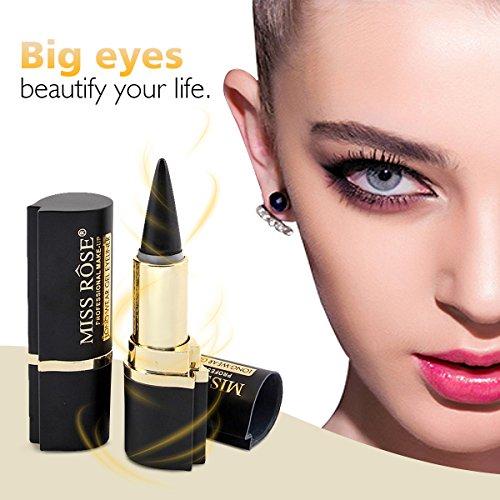 Black Waterproof Eyeliner Gel, LuckyFine Eye Liner Paste Pen Pencil Long lasting Women Eye Makeup