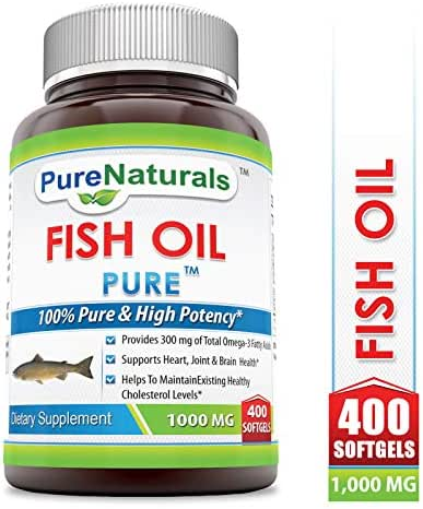 Pure Naturals Fish Oil 1000 mg Soft Gels, 400 Count
