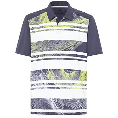 Graphite Golf Shirt - Oakley Men's Aero Stripe Mashie Polo, Graphite, X-Large