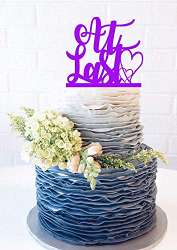 At Last Wedding Cake Topper At Last Cake Topper At Last anniversary cake topper script cake script topper fairy tale wedding finally cake