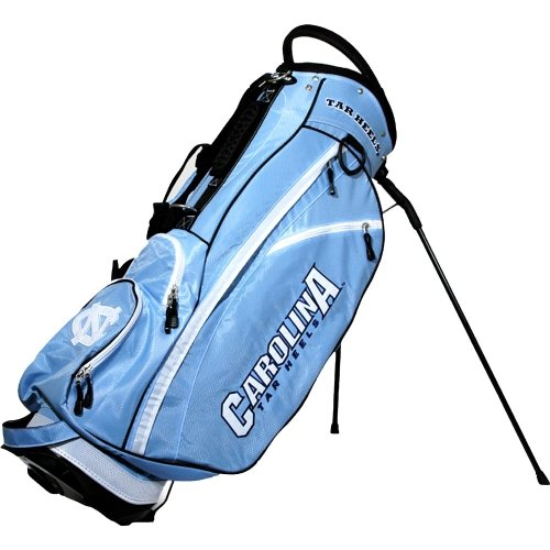 Team Golf NCAA North Carolina Tar Heels Fairway Golf Stand Bag, Lightweight, 14-way Top, Spring Action Stand, Insulated Cooler Pocket, Padded Strap, Umbrella Holder & Removable Rain Hood