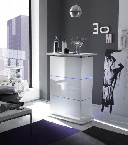 Bartisch Primo Minibar in weiß hochglanz