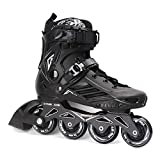ROSELLE Adult Fitness Inline Skate, Black Performance Inline Skates (Men 7,Women 8)