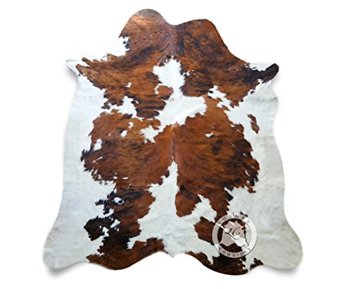 Tricolor Cowhide Rug XL APPROX size 6ft x 8ft - 180cm x 240cm - Top Quality Cowhide Leather Skin Hide Rugs
