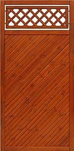 andrewex Toulon Media Element con rejilla 180x 90cm (H x B cm) Color Marrón teca Pino Antracita Gris Latte de madera pino Wind Protección Visión, teak