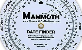 Mammoth Date Finder Wheel Chart