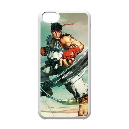 Street Fighter V 21 coque iPhone 5c cellulaire cas coque de téléphone cas blanche couverture de téléphone portable EEECBCAAN03033