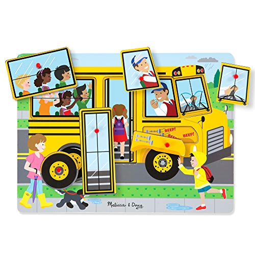Melissa & Doug The Wheels On The Bus Sound Puzzle (6 Piece)