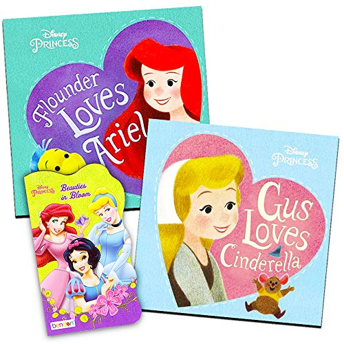 Disney® Princess Board Books (Set of 3 Shaped Board Books) Ariel, Cinderella, Snow White, Belle, Tiana ()