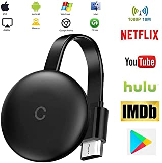 CCCS Stick De TV para El Nuevo Google Chromecast 3 para Netflix Youtube WiFi Pantalla HDMI,Dongle Inalámbrica Android iOS PC: Amazon.es: Hogar