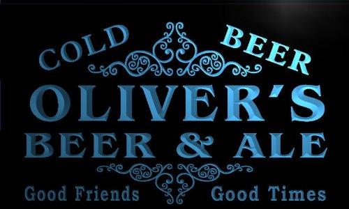 qs321-b Oliver's Beer & Ale Vintage Design Bar Decor Neon Light - Vintage Sign Oliver