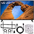 """LG 43LK5700PUA 43""""-Class HDR Smart LED Full HD 1080p TV (2018) + Flat Wall Mount Kit Ultimate Bundle 45-90 inch TVs + 6ft HDMI Cable + SurgePro 6-Outlet Surge Adapter w/Night Light"""