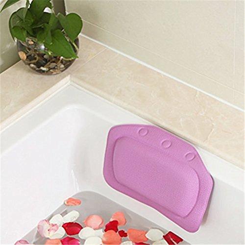 Pillow Suction Bathtub Jacuzzi Purple