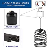 Kiven H-Type Track Pendant Light Industrial Hanging