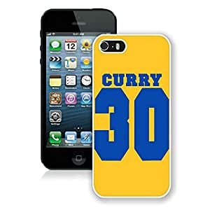 New Custom Design Cover Case For iPhone 5s Generation Golden State Warriors Stephen Curry 1 White Phone Case