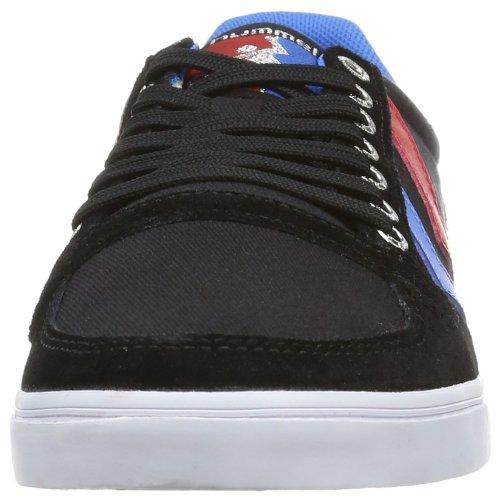 Hummel Sneaker Unisex Adulto - Slim Stadil Low - Scarpa Casual Div. Colori - Scarpa Al Guinzaglio / Suede - Classico Sneaker Comfort Suola Nero (nero / Blu / Rosso / Gomma)