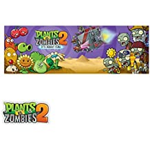 Plants vs. Zombies 2 Wall Decals: It's About Time Panoramic (36 in x 12 in)