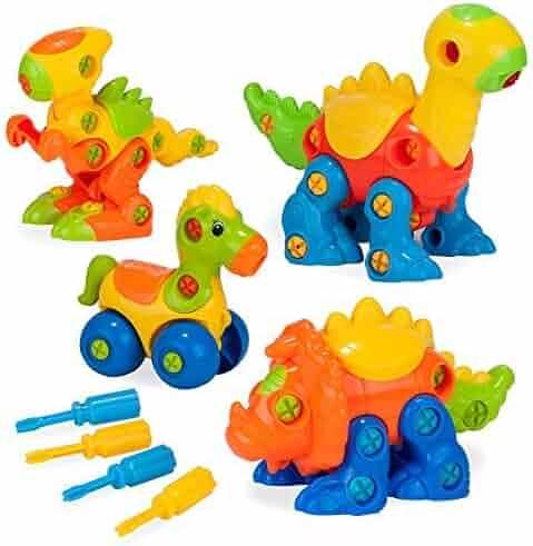 e20ffeb9c4e93 Creative Kids Build   Learn Dinosaur   Horse Toys - Interlocking STEM Play  Set for Kids