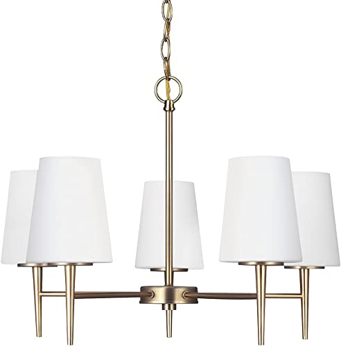 Sea Gull Lighting Transitional Driscoll 25 1 4 and 17 3 4 Satin Bronze Finish 5 Light Chandelier