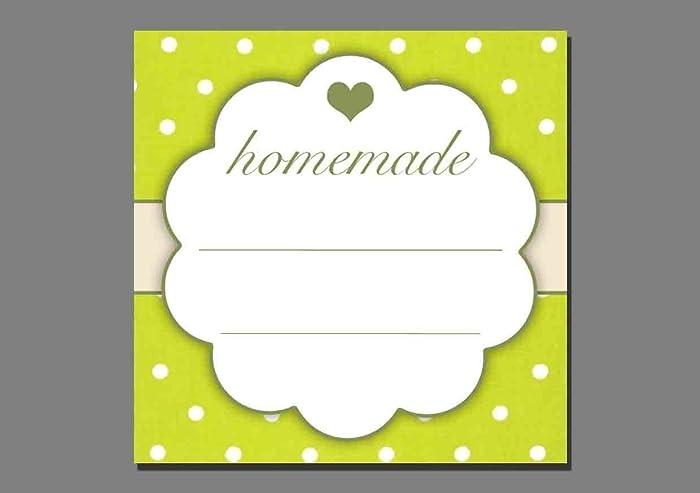 1x Aufkleber/homemade grün - Etiketten Sticker Marmelade hausgemacht ...