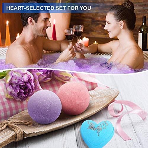 Peradix Bombas de Baño,8 piezas Bolas de Baño con Aceites Esenciales,Spa Baño de Burbujas para Hidratar la Piel Seca Sales de Baño de Bombas de Baño Espuma de Regalo para Mujeres