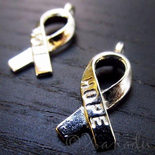 10Pcs - Hope Ribbon Breast Cancer Awareness (Breast Cancer Awareness Tins)