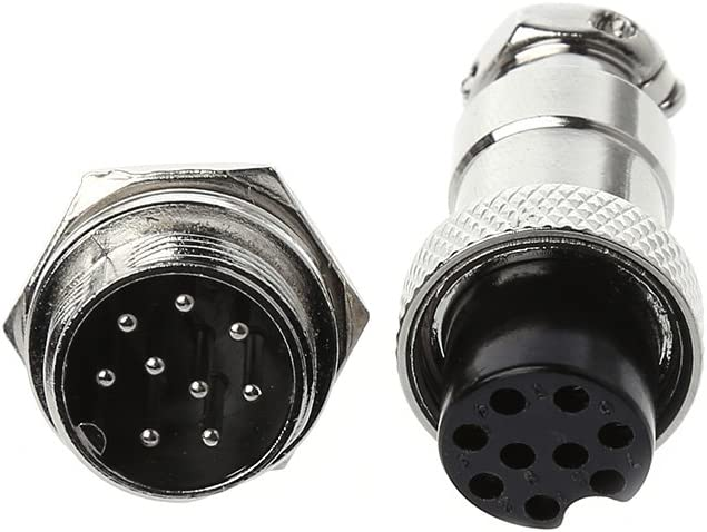1 Set Male and Female One Un connecteur Aviation GX16 8PIN YoungerY