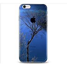 Apple iPhone 5 5S Case,Vandot Popular Fashion Colorful Printing Ultra Slim Thin Protective Cover With Soft TPU Silicone Bumper+Hard PC Matte Transparent Back Cover Pouch,Unique Design Landscape Blue Tree