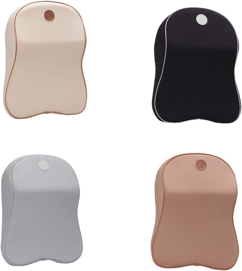 Khaki Shentesel Car Pillow Seat Headrest Pad Soft Memory Foam Head Neck Rest Support Cushion