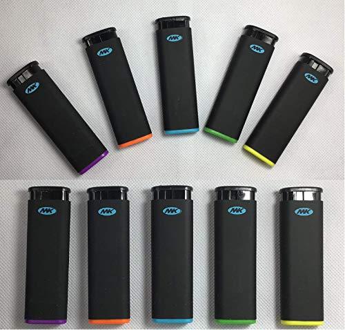 (10 Full Size MK Jet Torch Lighters Windproof Refillable Butane Cigarette Lighter)