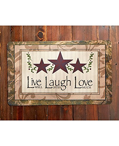 LIVE LAUGH LOVE COUNTRY THEMED INDOOR/OUTDOOR DURABLE MAT KITCHEN HOME DÉCOR  NEW ;supply