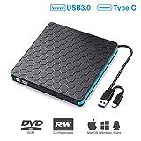 External DVD Drive, M WAY USB 3.0 Type C CD